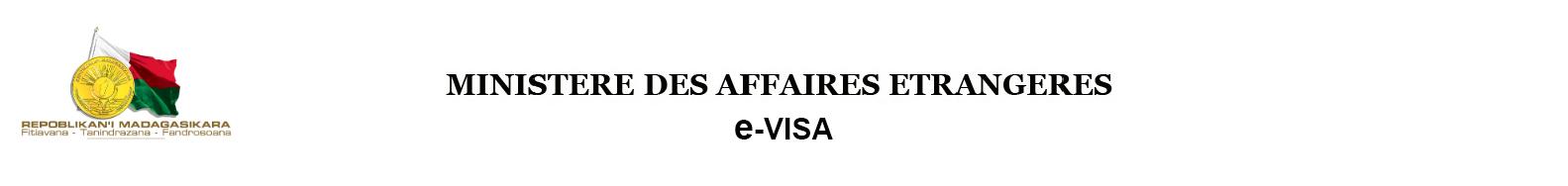 MINISTERE DES AFFAIRES ETRANGERES DE MADAGASCAR